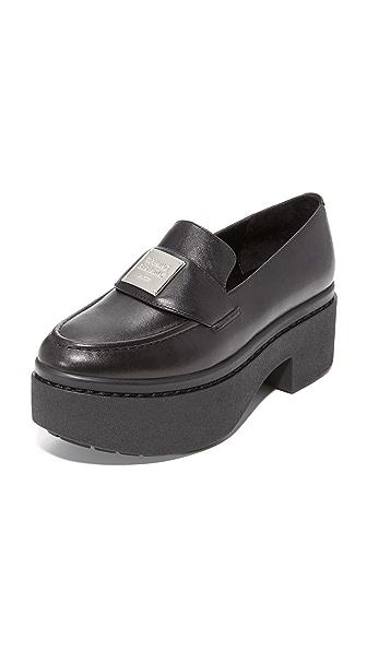 Opening Ceremony Agnees Platform Loafers - Black