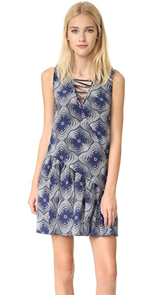 Opening Ceremony Medallion Silk Lattice Dress