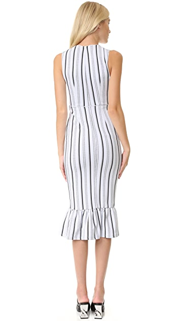 Opening Ceremony Striped Lotus Maxi Dress