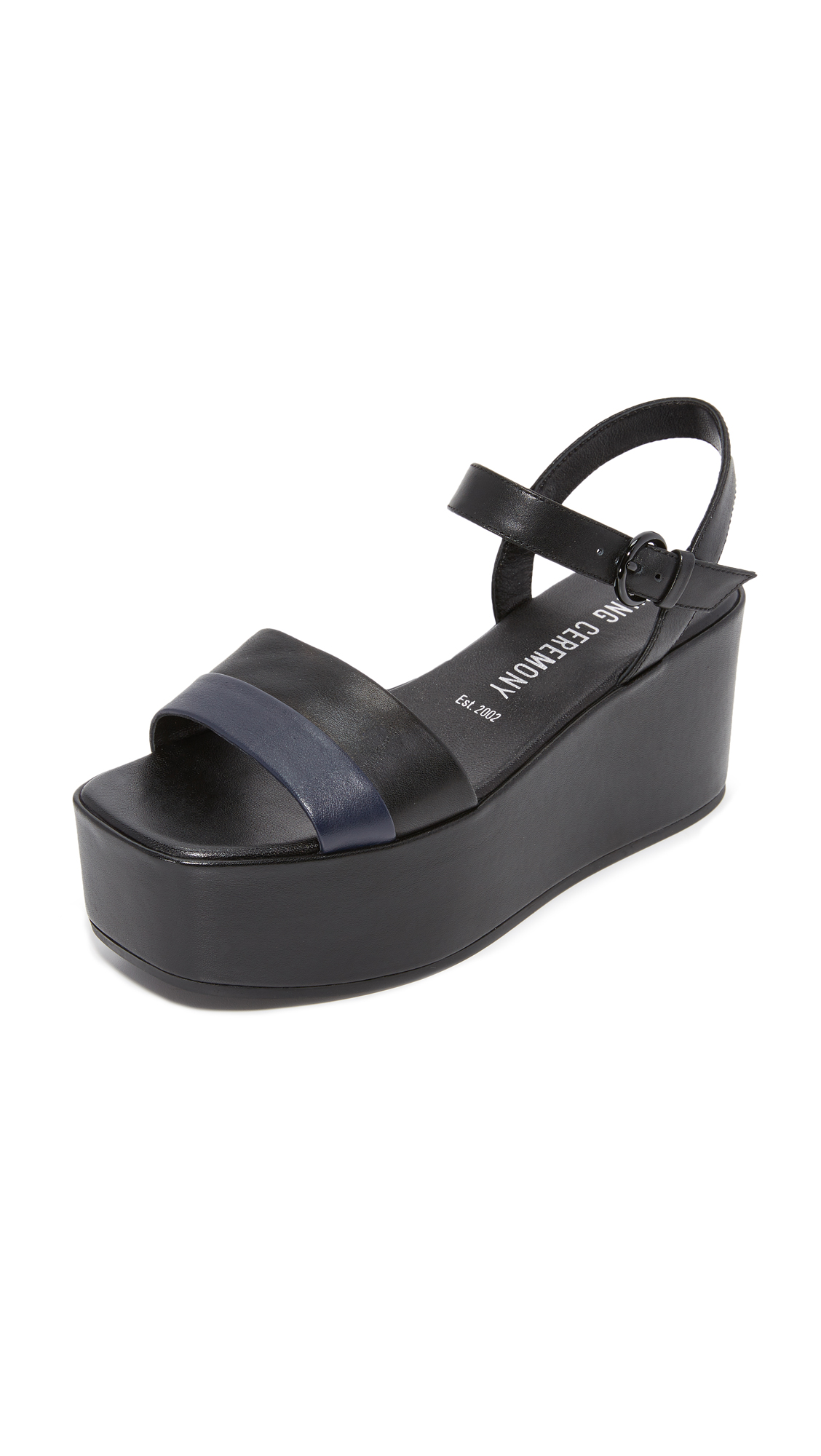 Photo of Opening Ceremony Rihta Platform Sandals Black Multi - Opening Ceremony online