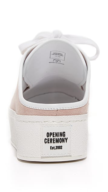 Opening Ceremony Cici Lace Up Suede Slides