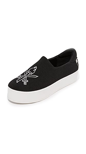 Opening Ceremony Cici Varsity Slip On Sneakers - Black