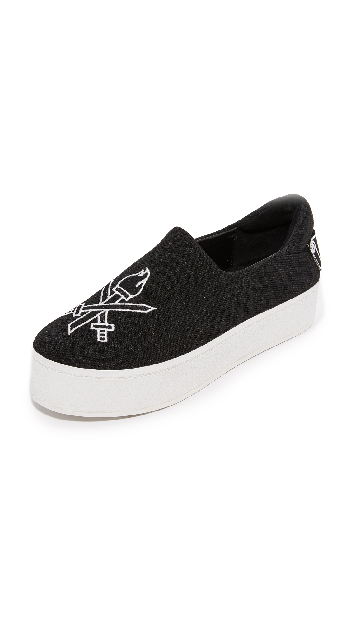 Photo of Opening Ceremony Cici Varsity Slip On Sneakers Black - Opening Ceremony online