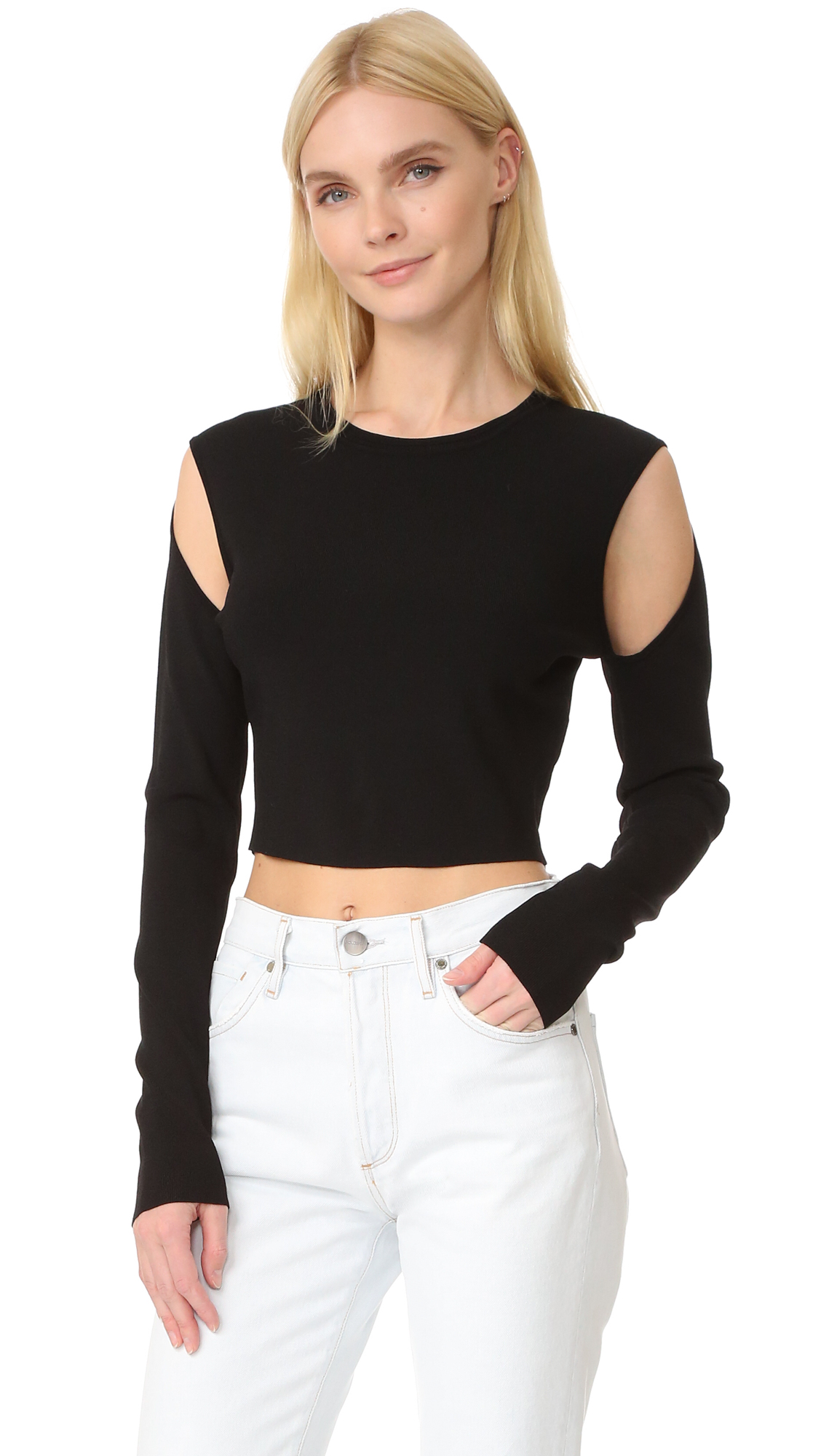 7fb6aa56804 Opening Ceremony Long Sleeve Crop Top | SHOPBOP