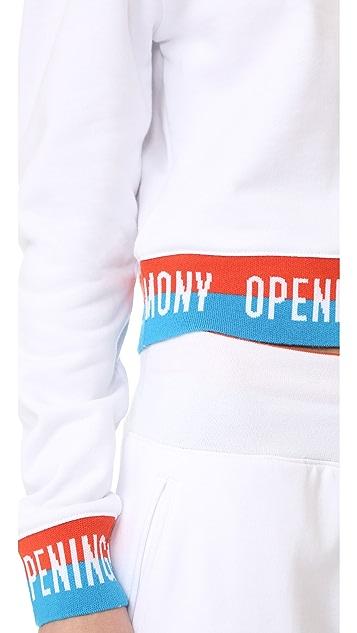 Opening Ceremony Elastic Logo Crop Sweatshirt