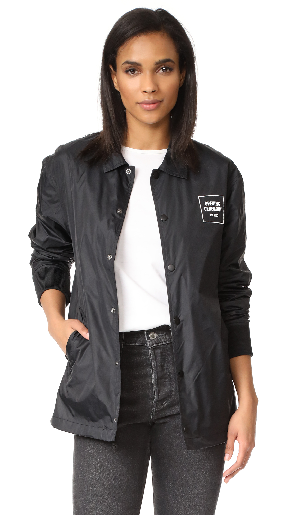 Opening Ceremony Signature Coach Jacket - Black
