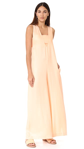 Opening Ceremony U Neck Jumpsuit - Pale Peach