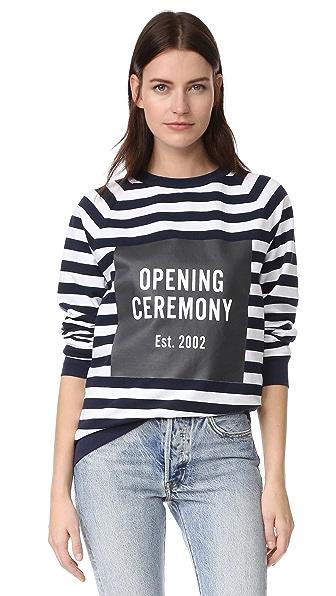 Opening Ceremony Полосатая толстовка Box с логотипом