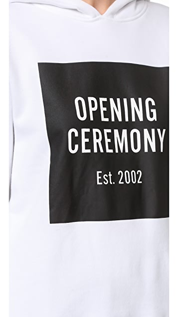 Opening Ceremony Established Hood Box Sweatshirt