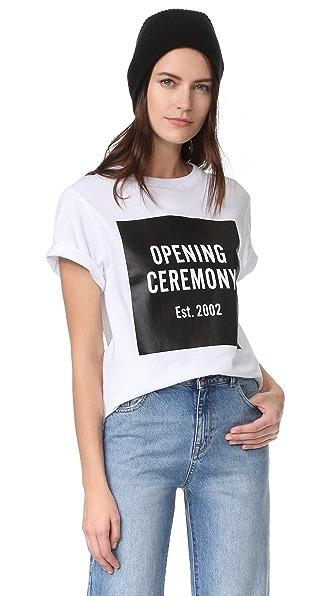 Opening Ceremony Футболка OC с короткими рукавами и логотипом