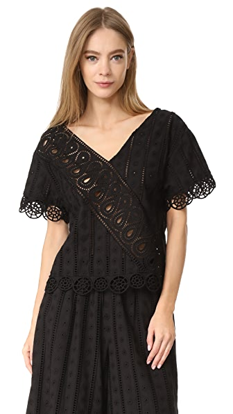 Opening Ceremony Anglaise Popover Top