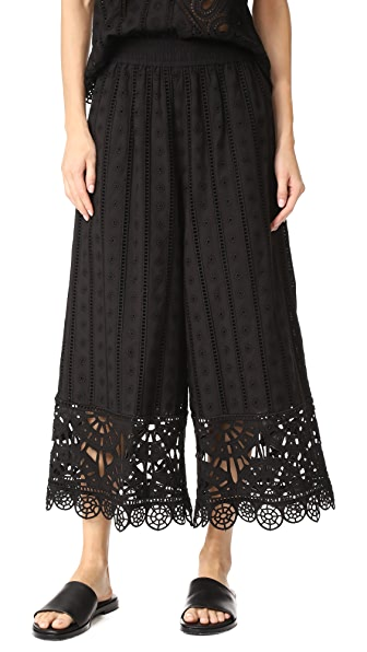 Opening Ceremony Anglaise Wide Leg Pants In Black