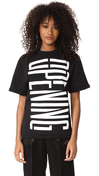 Opening Ceremony Stretch Logo Cutoff Sweatshirt In Black