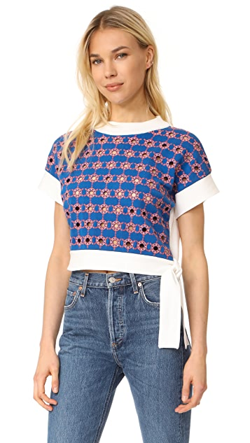 Opening Ceremony Embroidered Cropped Sweater
