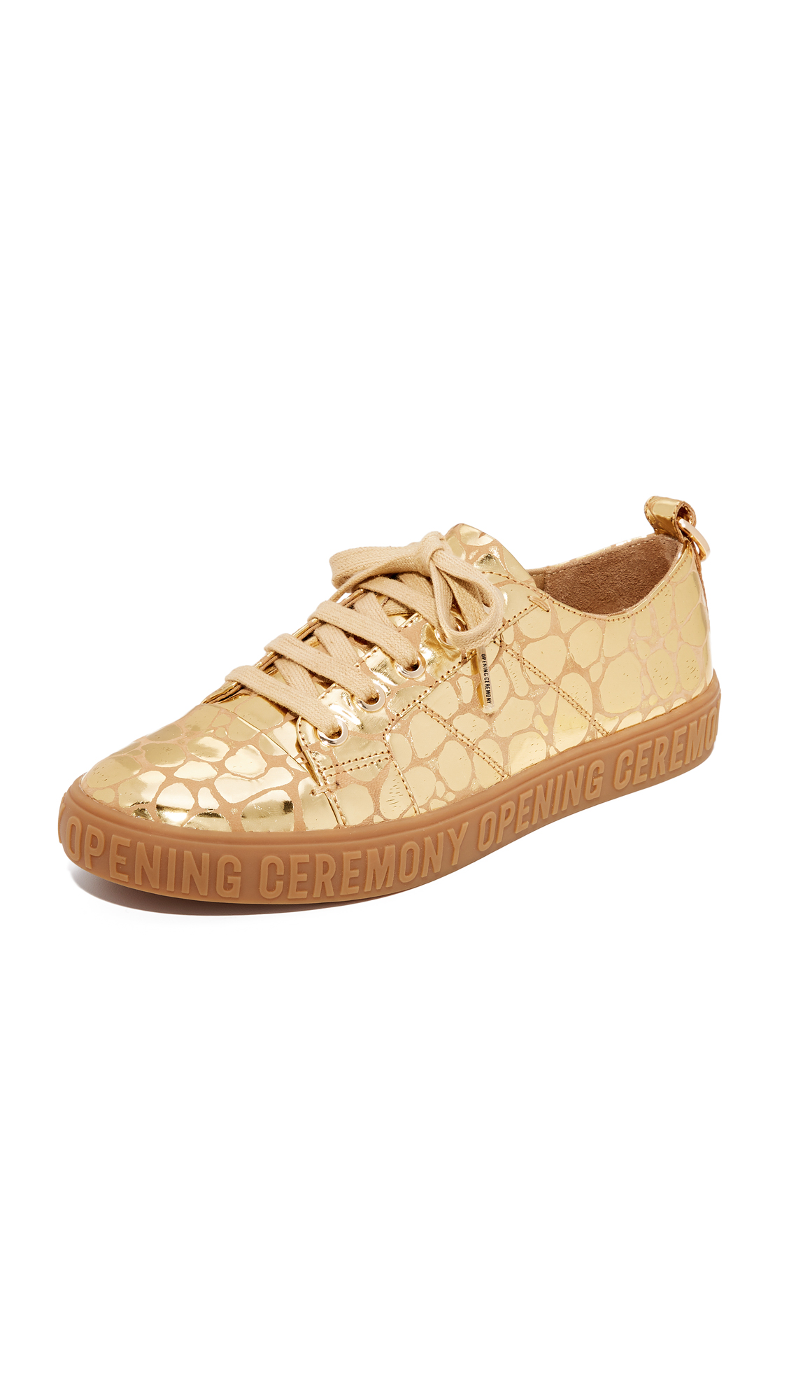 Opening Ceremony Mina Logo Sneakers - Gold