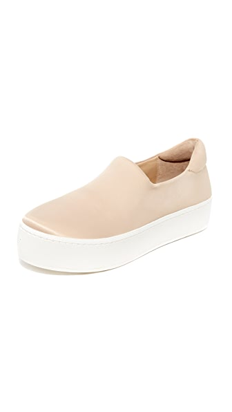 Opening Ceremony Cici Satin Slip On Sneakers - Nude