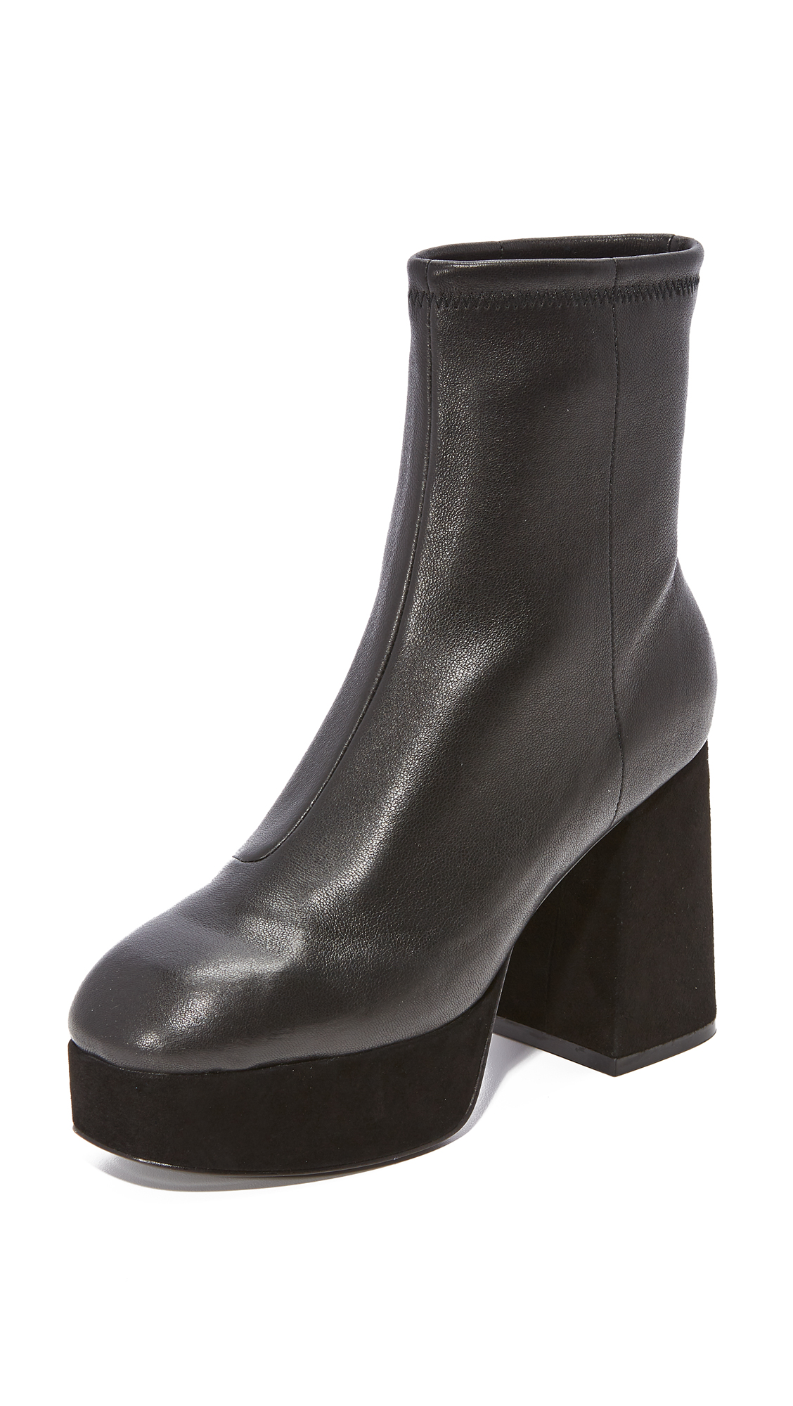 Opening Ceremony Carmen Leather Boots - Black