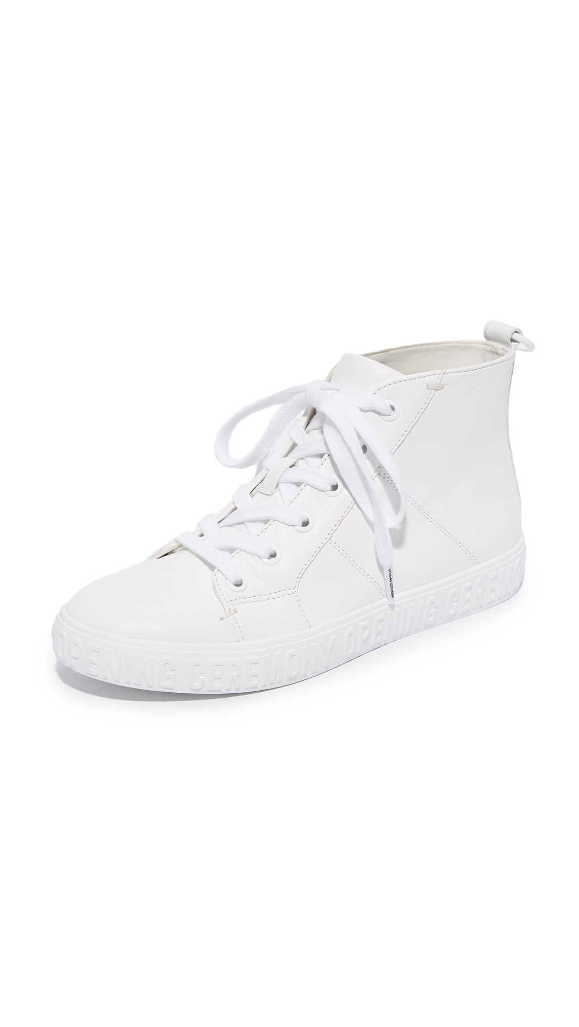 Opening Ceremony Ericca Leather High Top Sneakers - White