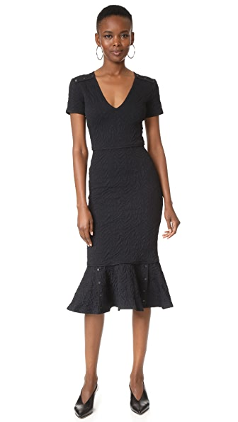 Opening Ceremony Desert Jacquard Midi Dress - Black