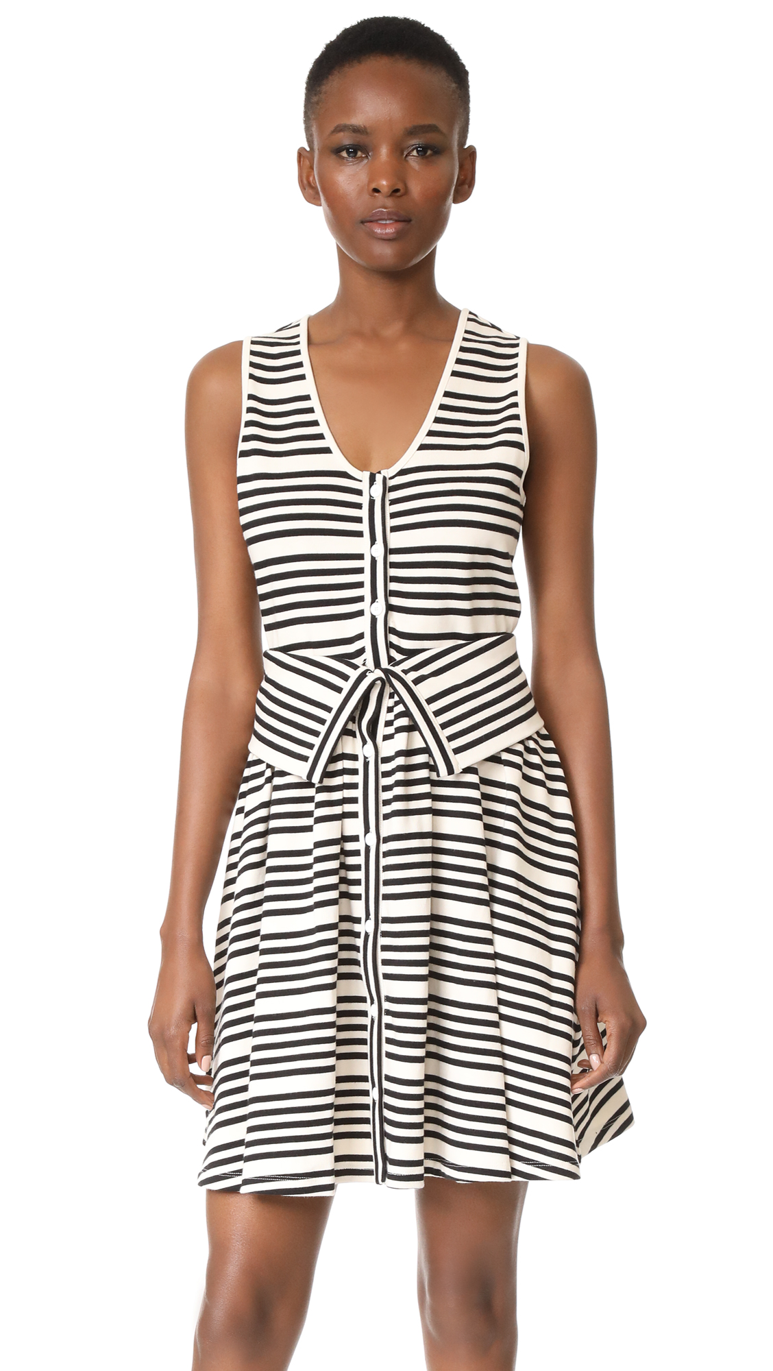 Opening Ceremony Striped Dress - White Multi