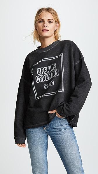 Opening Ceremony Cozy Stencil Sweatshirt - Black