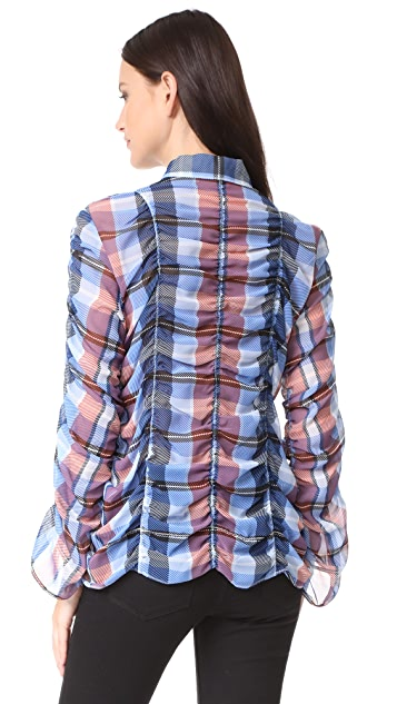 Opening Ceremony Plaid Button Down Shirt