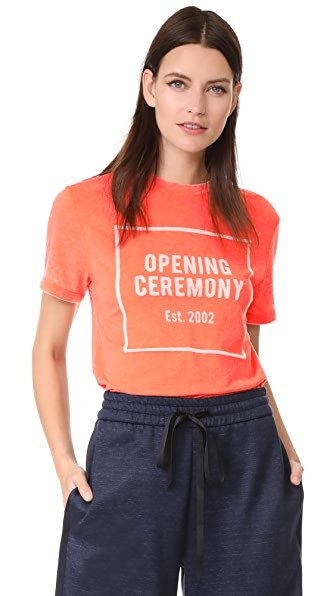 Opening Ceremony OC Logo Burnout Tee - Terracotta