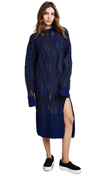 Opening Ceremony Boucle Jacquard Dress In Eclipse Multi