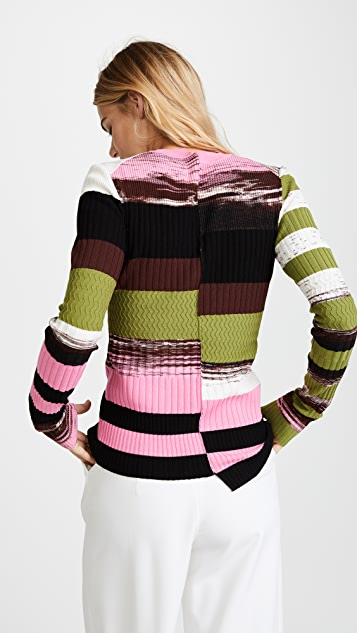 Opening Ceremony Space Dye Long Sleeve Top
