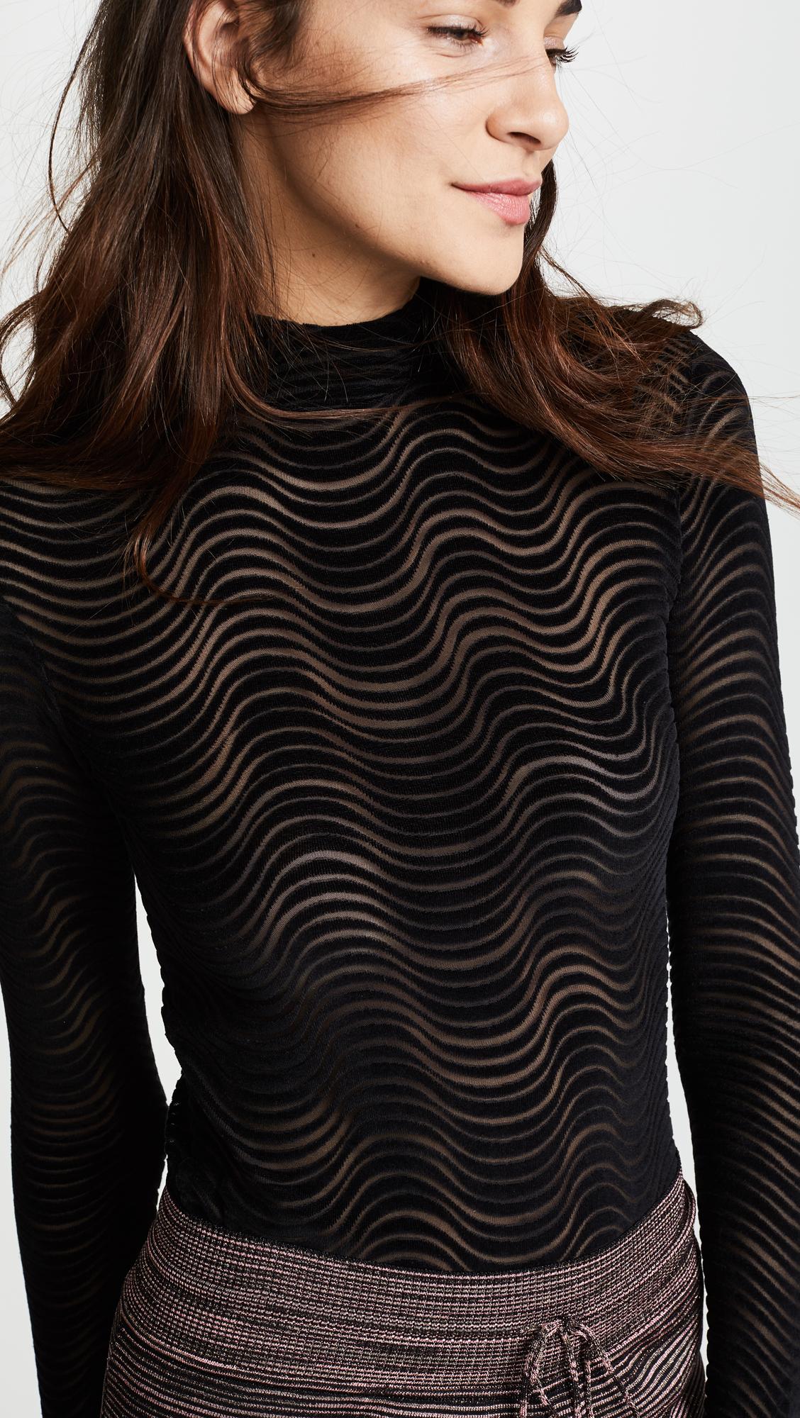 Opening Ceremony Woman Devoré-velvet Bodysuit Black Size L Opening Ceremony Recommend Outlet Nicekicks bFxJ3EE