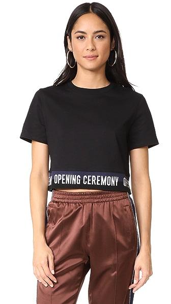 Opening Ceremony Elastic Logo Tee - Black