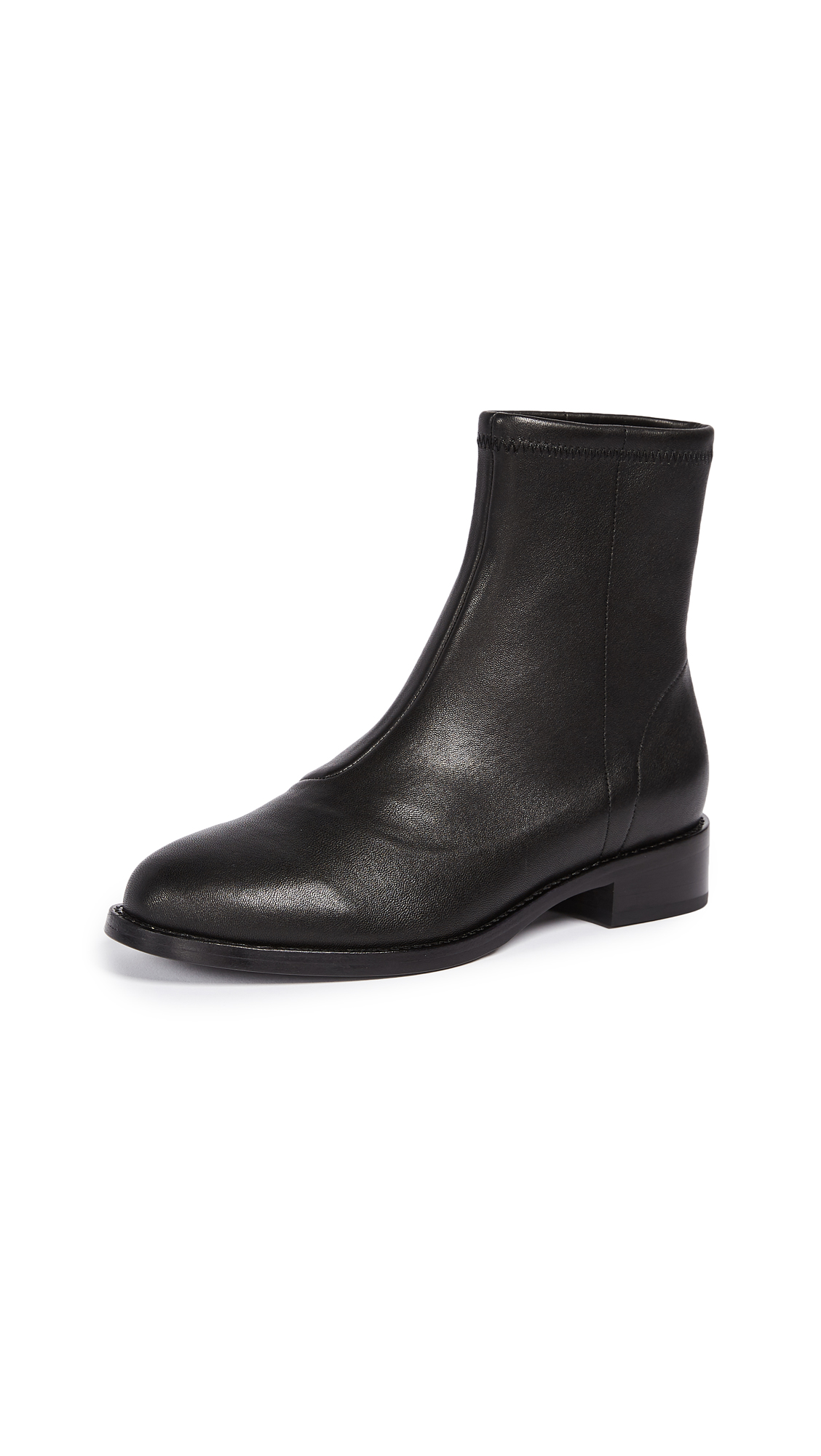 Opening Ceremony Dani Leather Flat Boots - Black