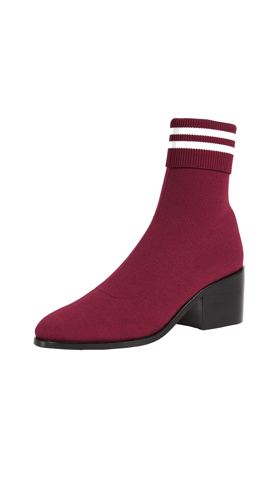 Opening Ceremony Court Ankle Booties - Burgundy