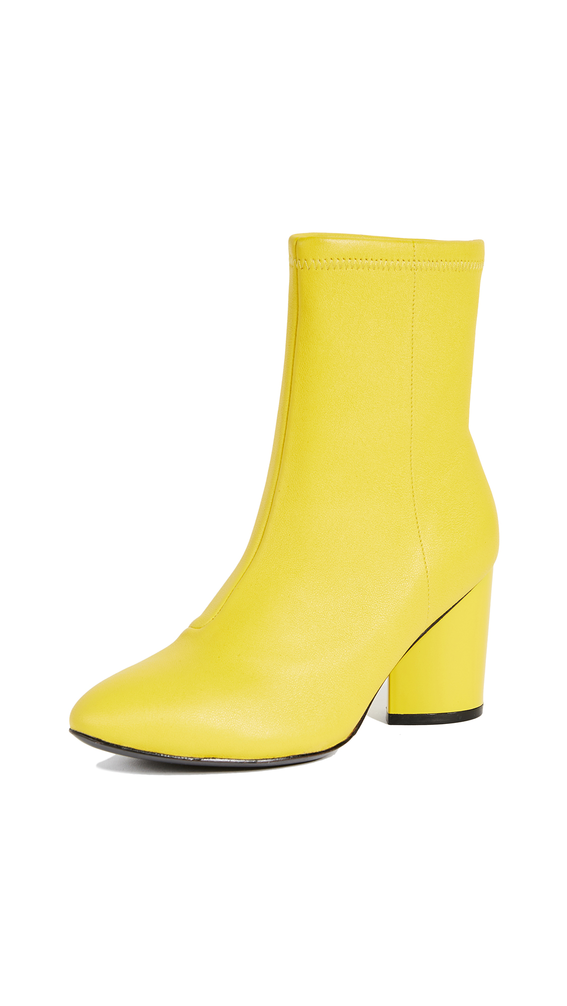 Opening Ceremony Dylan Stretch Leather Booties - Acid Green