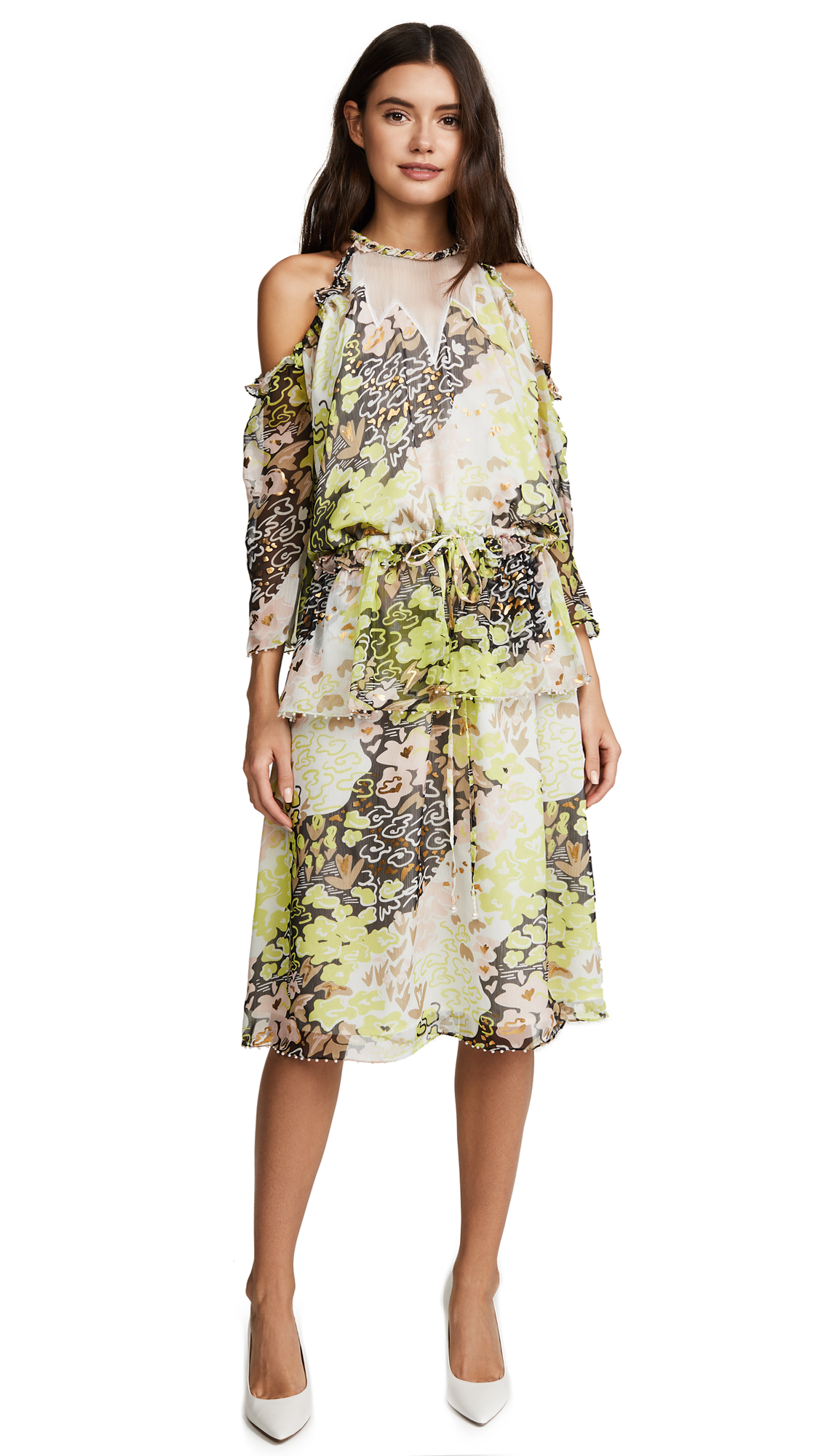 Opening Ceremony Floral Pearl Edge Dress