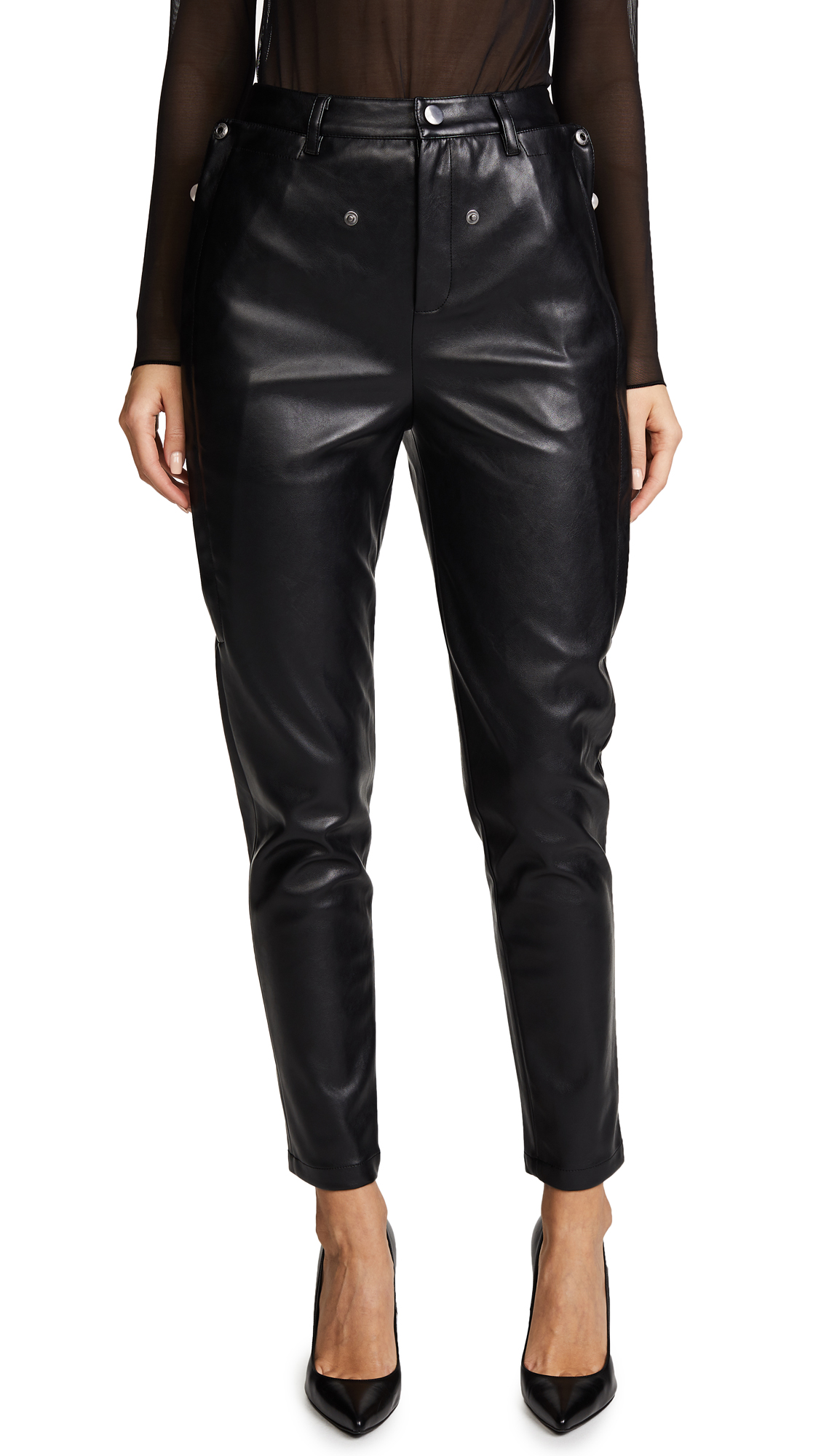 Opening Ceremony Zip Snap Pocket Pants - Black