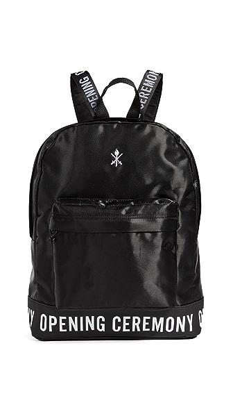 Opening Ceremony Logo Backpack In Black