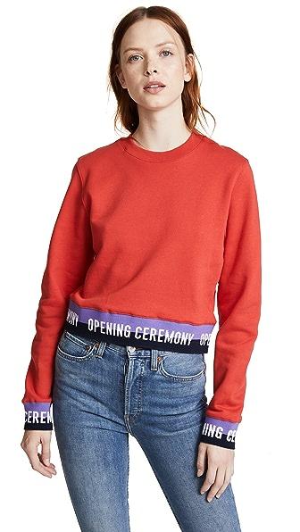 Opening Ceremony Elastic Logo Crop Sweatshirt at Shopbop