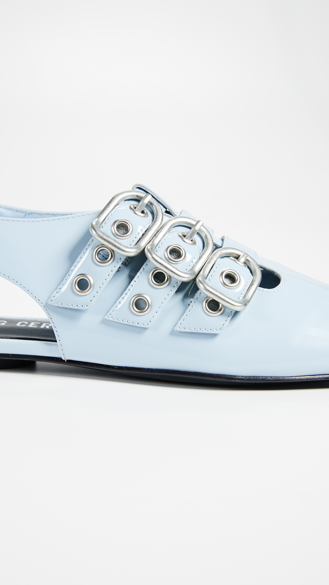 Opening Ceremony Blue Assata Buckle Flats Y7kEAl2