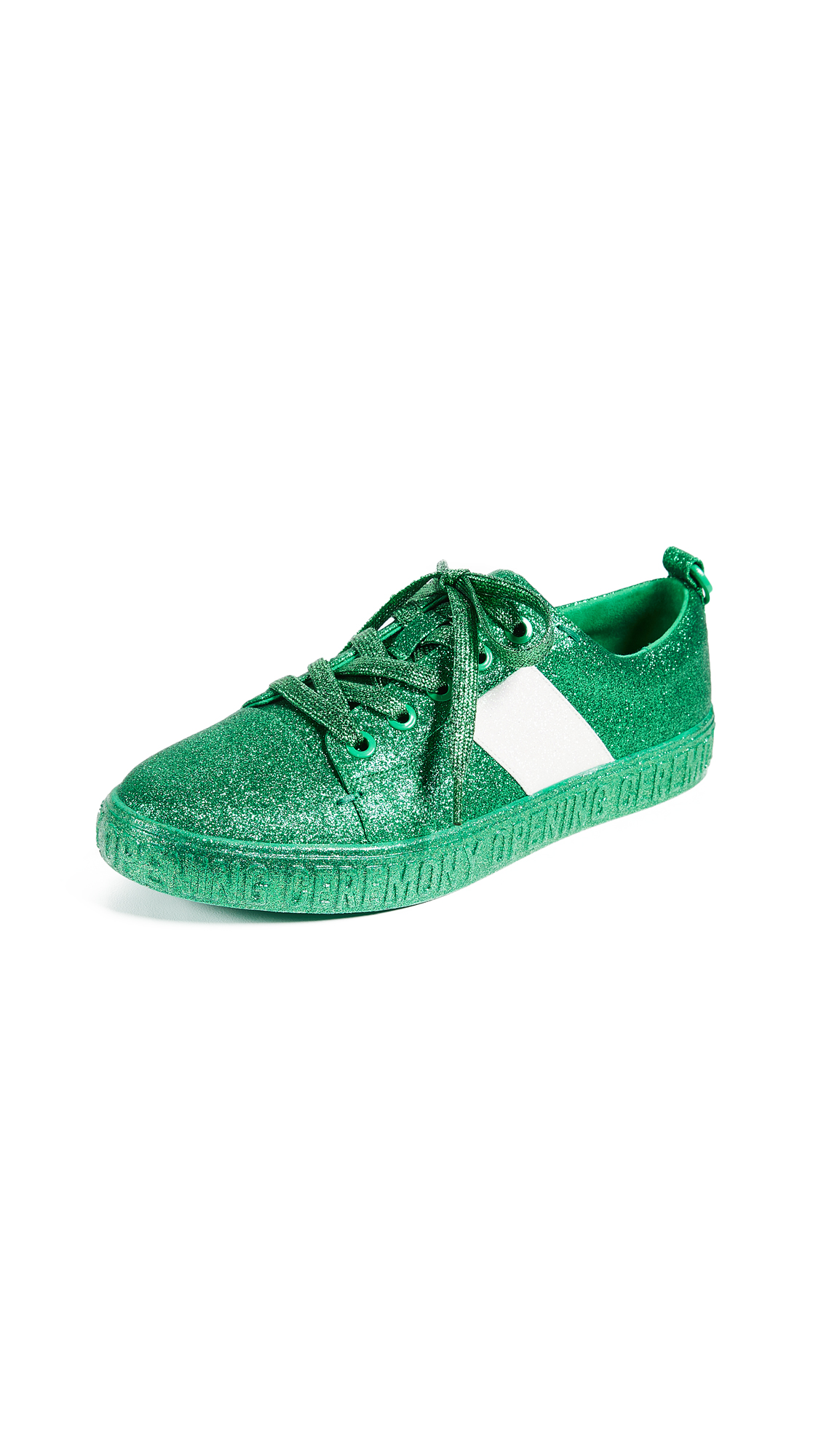 Opening Ceremony La Cienega Glitter Sneakers In Green