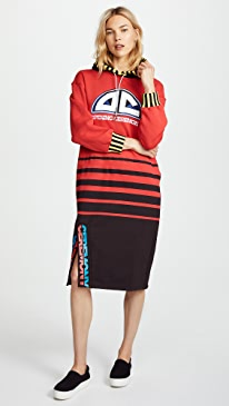 Red Sweatshirt Dress