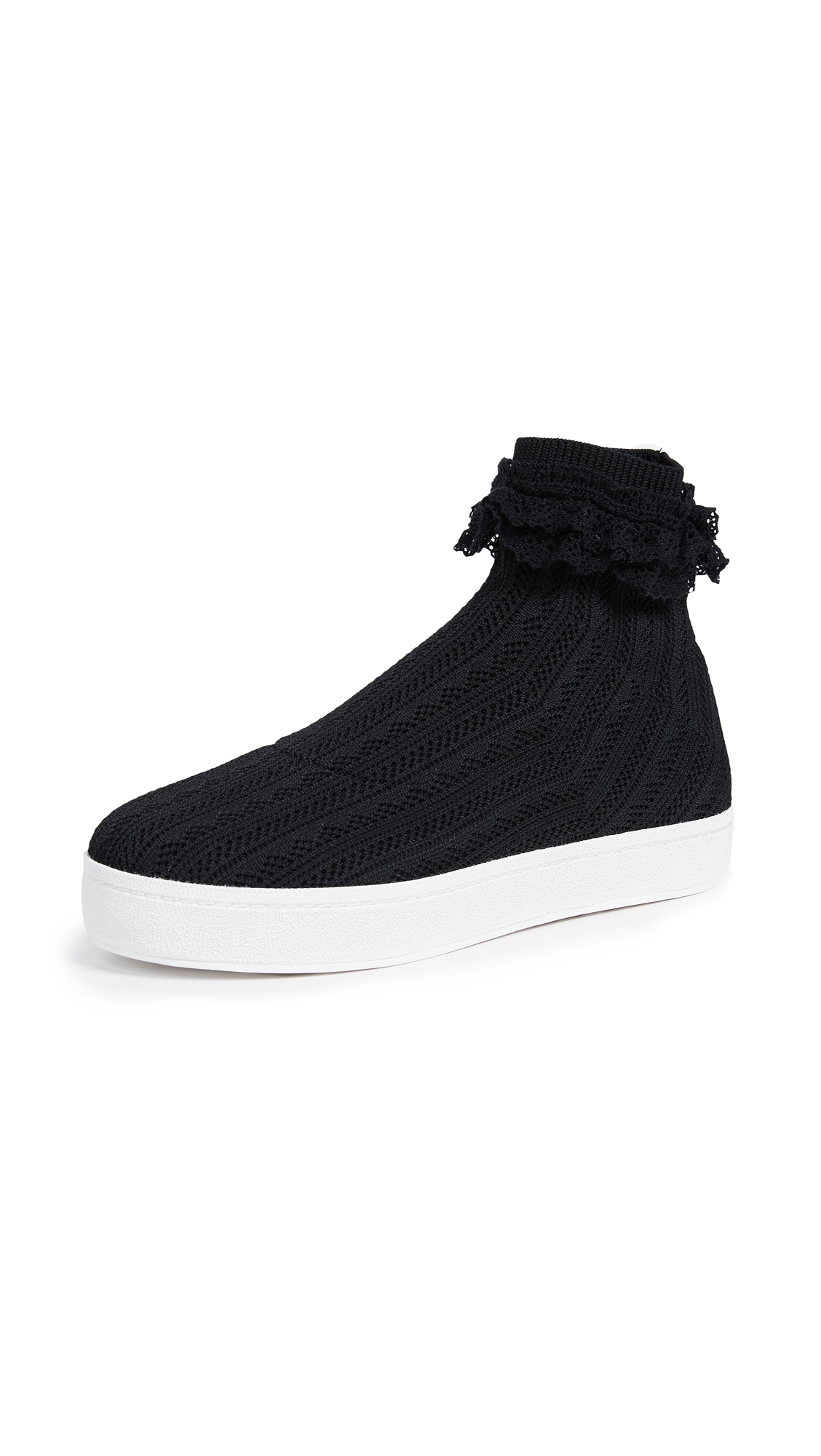 Bobby Sock Knit Sneaker in Black
