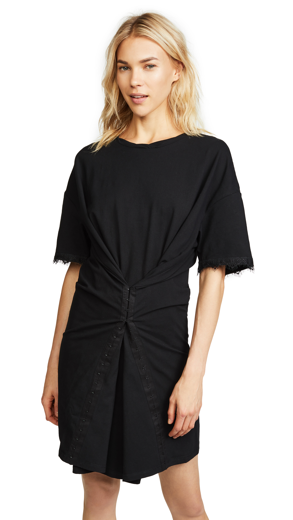 Opening Ceremony Hook & Eye T-Shirt Dress In Black
