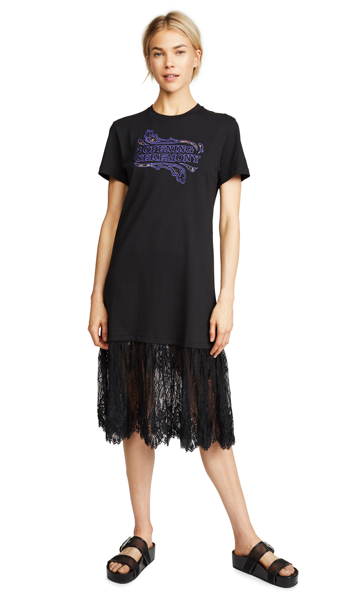 Opening Ceremony Lace Hem Dress