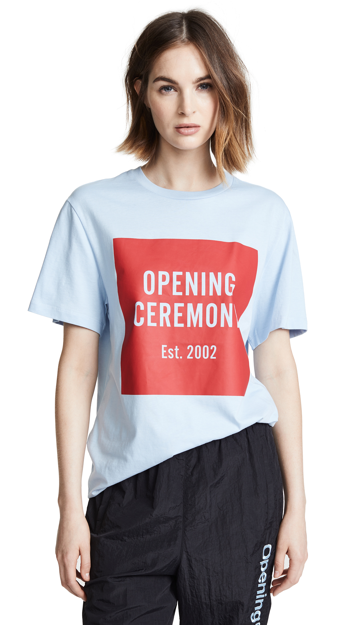 OPENING CEREMONY Printed Cotton-Jersey T-Shirt, Postal Blue