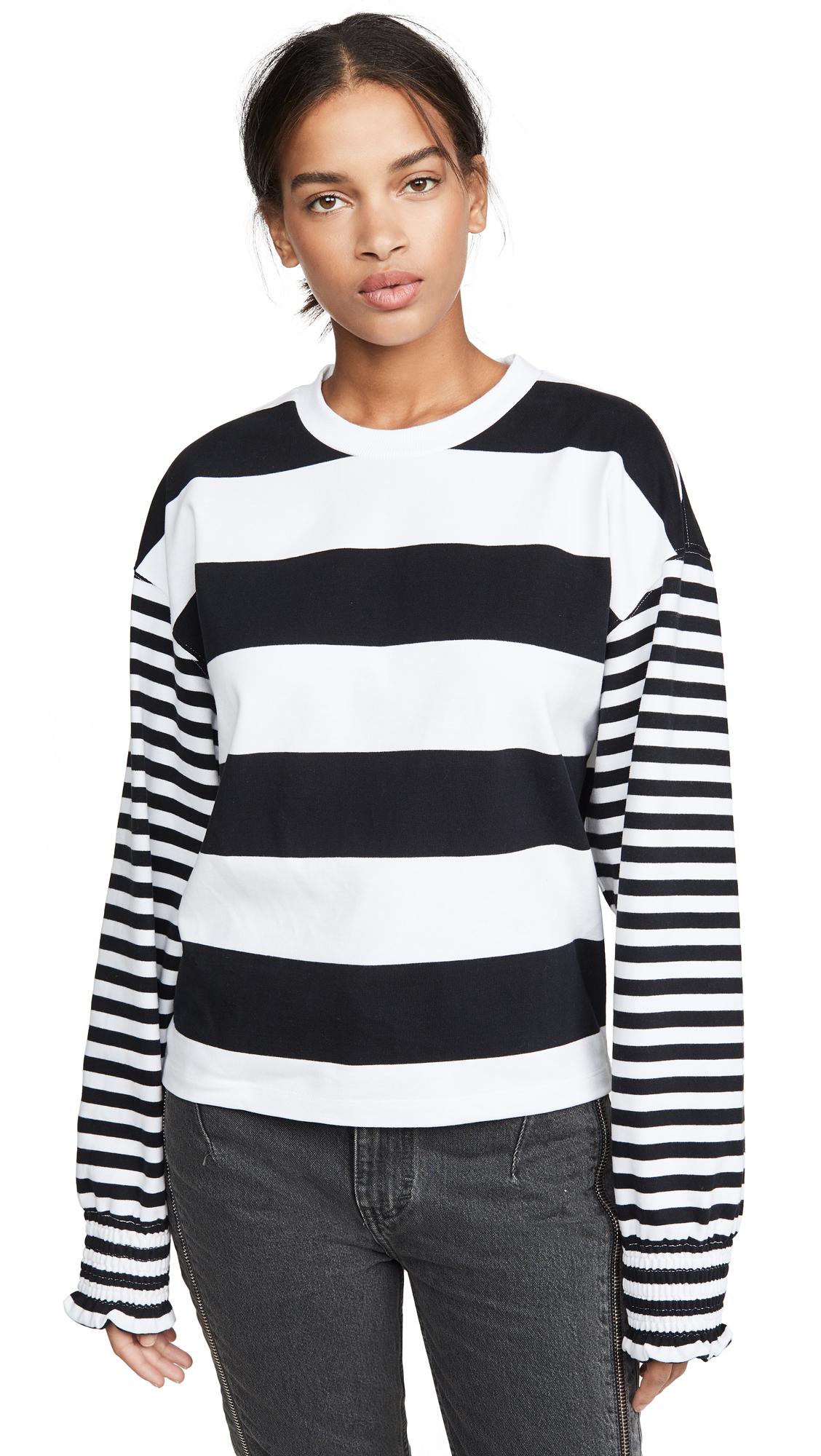 Buy Opening Ceremony online - photo of Opening Ceremony Cropped Stripe Sweatshirt