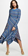 Opening Ceremony Long Sleeve Rib Knit Midi Dress