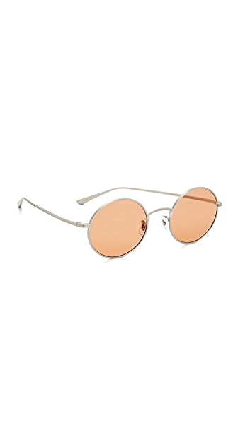 Oliver Peoples The Row After Midnight Sunglasses - Brushed Silver/Pink