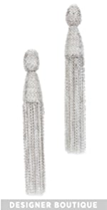 Classic Chain Tassel Earrings Oscar de la Renta