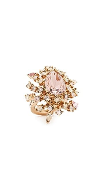 Oscar de la Renta Tiered Crystal Ring